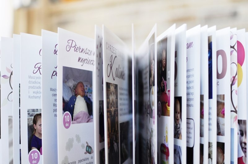 indywidualnie zaprojektowany personalizowany album Twojego dziecka